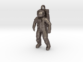 Apollo Astronaut / 50 mm in Polished Bronzed Silver Steel