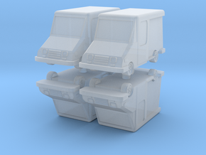 USPS Grumman LLV (x4) 1/285 in Smooth Fine Detail Plastic