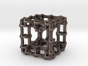 Fractal Cubic HF8 in Polished Bronzed Silver Steel