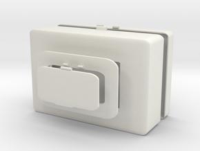 Wet tissue and mask storage box in White Natural Versatile Plastic: Medium