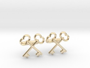 The Society of the Crossed Keys Cufflinks in 14K Yellow Gold