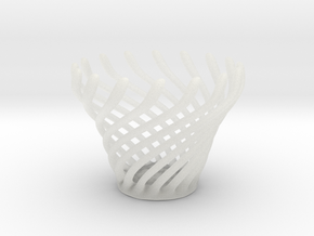 Swirly Fun Egg Cup in Smooth Fine Detail Plastic