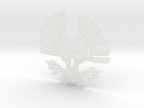 'Mockingjay' Panem Sigil Pendant for neclace in Smooth Fine Detail Plastic