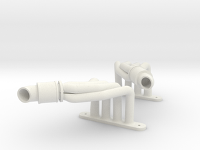 Another Magnaflow-styled Header (Pair) in White Natural Versatile Plastic