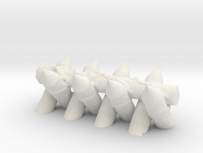 Spiked Barricade 1/48 in White Natural Versatile Plastic