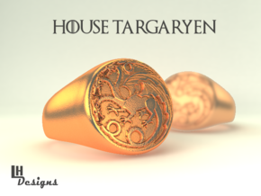 Size 11 Targaryen Ring in Natural Bronze