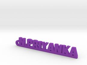 N.PRIYANKA_keychain_Lucky in Purple Processed Versatile Plastic