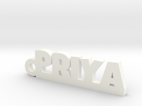 PRIYA_keychain_Lucky in White Processed Versatile Plastic