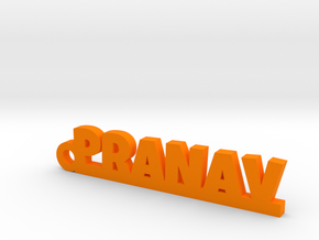 PRANAV_keychain_Lucky in Orange Processed Versatile Plastic