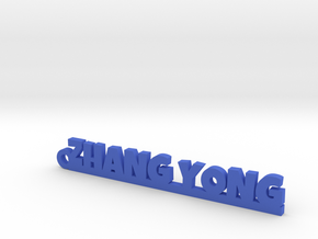 ZHANG YONG_keychain_Lucky in Blue Processed Versatile Plastic