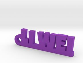 LI WEI_keychain_Lucky in Purple Processed Versatile Plastic