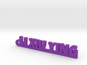 LI XIU YING_keychain_Lucky in Purple Processed Versatile Plastic