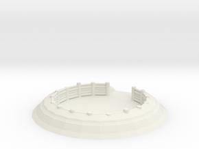 Gun Emplacement 1/87 in White Natural Versatile Plastic