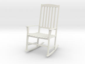 Rocking Chair in White Natural Versatile Plastic: 1:12