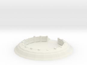 Gun Emplacement 1/64 in White Natural Versatile Plastic