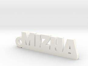 MIZHA_keychain_Lucky in White Processed Versatile Plastic