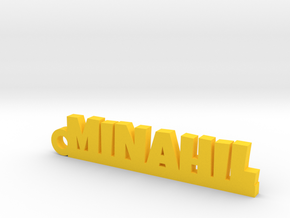 MINAHIL_keychain_Lucky in Yellow Processed Versatile Plastic