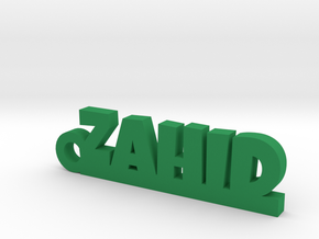 ZAHID_keychain_Lucky in Green Processed Versatile Plastic