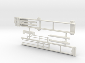 1/64th Roll Off Truck Body frame in White Natural Versatile Plastic