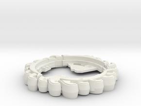 Hydro Ring in White Natural Versatile Plastic