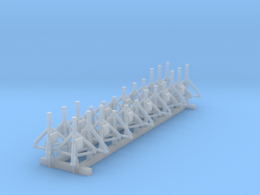 1:400 Aircraft Jacks 24pc in Smooth Fine Detail Plastic