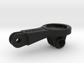 Wahoo Elemnt GoPro BMC Mount - Long in Black Natural Versatile Plastic
