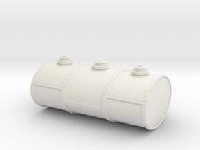 S Scale Three Cell Fuel Tank in White Natural Versatile Plastic