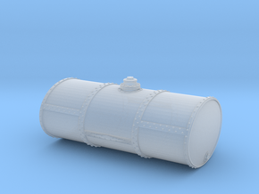 HO Scale Singe Cell Fuel Tank (End Drain) in Smooth Fine Detail Plastic