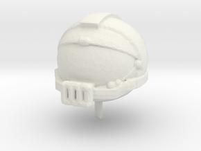 Space Helmet v1 in White Natural Versatile Plastic