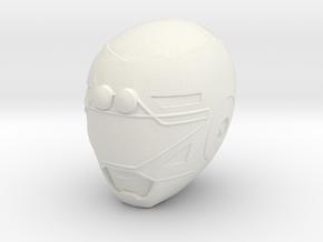 Turbo Yellow Helmet LC in White Natural Versatile Plastic