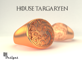 Size 13 Targaryen Ring in Natural Bronze