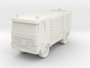Mercedes Actros Fire Truck 1/100 in White Natural Versatile Plastic