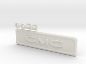 1960-1966 C10 Chevy GMC Logo Radio Delete Plate in White Natural Versatile Plastic
