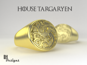 Size 12 Targaryen Ring in Natural Brass