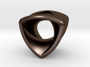 Stretch Rotor 12  By Jielt Gregoire in Polished Bronze Steel
