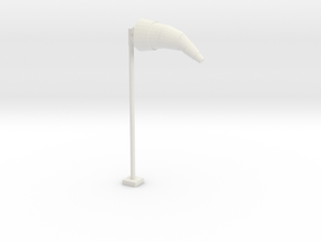 Airport Windsock and Pole 1/48 in White Natural Versatile Plastic