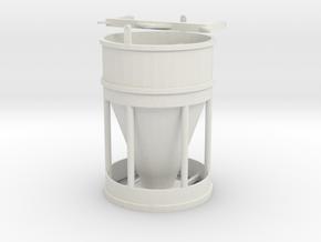 LARGE CONCRETE BUCKET in White Natural Versatile Plastic