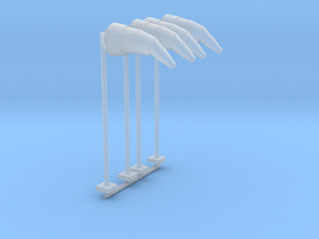 Airport Windsock and Pole (x4) 1/144 in Smooth Fine Detail Plastic