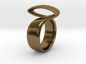 Twist Parallel ring in Polished Bronze: 6 / 51.5