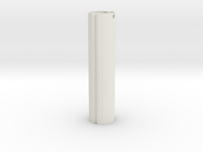 Telescopic spray bottle-tube in White Natural Versatile Plastic: Medium