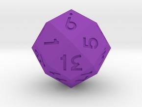 Dozenal d20 [d24] v2 in Purple Processed Versatile Plastic