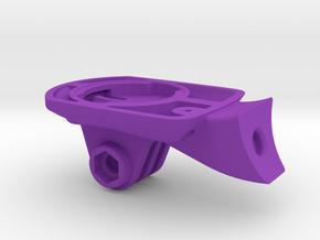 Wahoo Elemnt Bolt GoPro Specialized Mount in Purple Processed Versatile Plastic