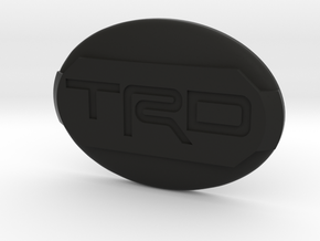 Toyota steering wheel emblem overlay TRD in Black Premium Versatile Plastic