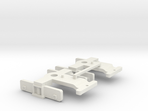 NWR Model Series Era Trucks (Mail,Utility Flatcar) in White Natural Versatile Plastic