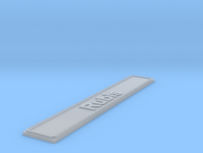 Nameplate Rubis in Smoothest Fine Detail Plastic