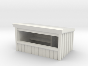 Wooden Market Stall 1/76 in White Natural Versatile Plastic