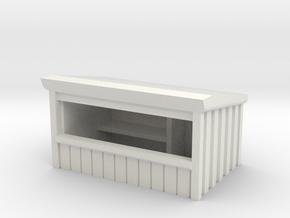 Wooden Market Stall 1/35 in White Natural Versatile Plastic