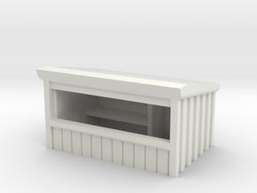 Wooden Market Stall 1/144 in White Natural Versatile Plastic