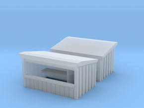 Wooden Market Stall (x2) 1/220 in Smooth Fine Detail Plastic