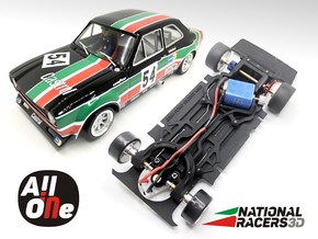 Chassi - BRM Ford Escort MK1 (AiO-Aw) in Black PA12